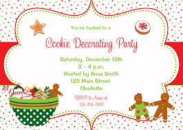 cookie decorating party invitation christmas cookies