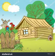 How To Create A Countrified Illustration Shows Countrified House Yard Stock Illustration