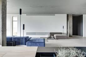 minimal urban apartment stays open yet feels cozy minimal kiev apartment living space design