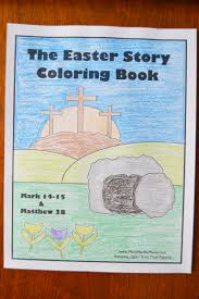 the easter story coloring book u2013 mary martha mama