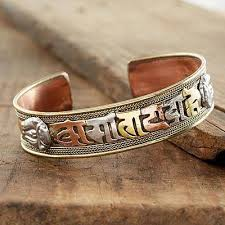 copper bracelet images Tibetan mantra copper bracelet tibetan mantra novica jpg