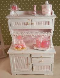 Shabby Chic Dollhouse by Dollhouse Miniature Shabby Chic Kitchen Hutch Display 1 12th