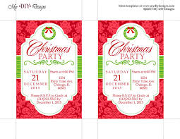 free printable christmas party invitations templates theruntime com