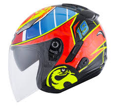 kbc motocross helmets kyt strike eagle wings motocross helmet white black blue