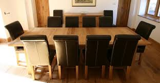 Dining Room Table Seats - Black dining table for 10
