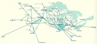 Emirates Route Map by Airlines Past U0026 Present North Central Airlines Route Map U0026 Aircraft