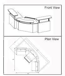 Small Office Reception Desk by Corporate Custom Reception Desk