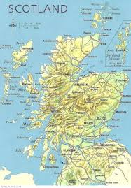 World Map Scotland by Online Maps Scotland Physical Map