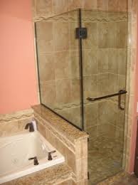 hinged glass shower door shower door is hinged off of the glass and off of the tiled wall