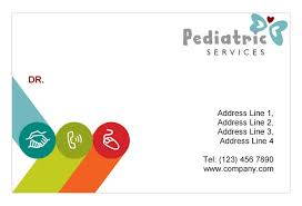 childcare business cards pediatrician child care print template pack from serif