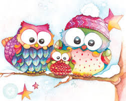 owl christmas owl for winter winter watercolor owl print baby