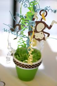 monkey centerpieces for baby shower monkey themed baby shower centerpieces 10820