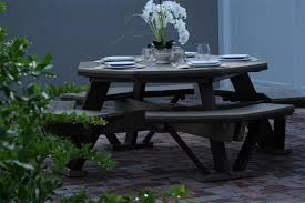 Amish Poly Outdoor Furniture by Finch Poly Octagon Picnic Table From Dutchcrafters Amish Furniture