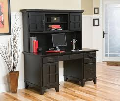 Computer Desk With Hutch Home Styles Arts U0026 Crafts Ebony Pedestal Desk U0026 Hutch 5181 184
