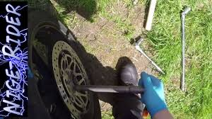 how to remove a front wheel from a honda vfr 800 youtube
