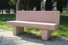 panchine prezzi panchina cemento con schienale cm 240 icem s r l