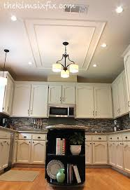 Fluorescent Lights For Kitchens Ceilings by Removing A Large Fluorescent Kitchen Box Light Flashback Friday