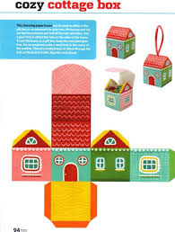 pattern block house template printable paper house craft templates