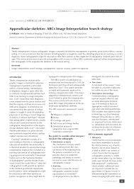 appendicular skeleton abcs image interpretation search strategy