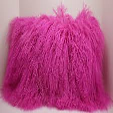 Pink Fur Chair Compare Prices On Mongolian Fur Pillows Online Shopping Buy Low