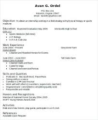 physical therapist resume template resume of a physical therapist sle resume for a physical