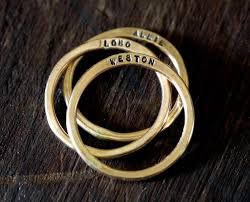 custom metal rings images 14k gold filled custom hammered rings set of 3 s0313 jpg