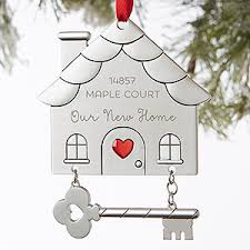 personalized happy new home ornament