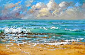 sea home decor sea palette knife oil painting by dmitry spiros sea art