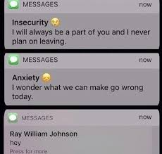 Text Message Memes - insecurity anxiety text messages know your meme