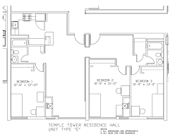 University Floor Plans Temple Towers University Housing And Residential Life