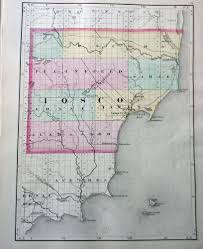 Michigan Township Map by 1873 Map Of Iosco Or Ogemaw County Michigan