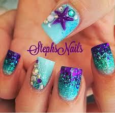 mermaid nails nail art u0026 designs pinterest mermaid nails
