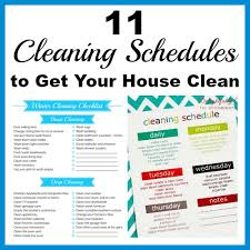 printable house cleaning schedule 11 cleaning schedules to get your house clean a cultivated nest