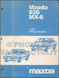 1992 mazda 626 u0026 mx 6 repair shop manual original