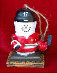 s mores hockey player ornament and other hockey ornaments at
