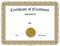 of excellence template fair award certificate template free