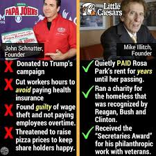 Little Meme - papa john s john schnatter vs little caesar s mike ilitch