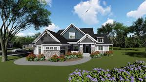 Prairie Style Home Plans Craftsman Style House Plans Plan 7 1286
