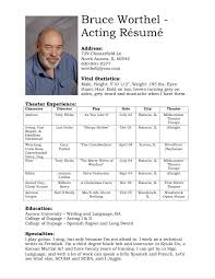 Acting Resume Builder Acting Resume Template 8 Acting Resume Samples 10 Best Acting