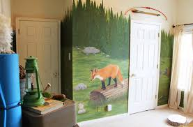 woodland kids room at home interior designing