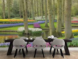 Best Garden Wall Mural Ideas For Living Rooms Bedrooms - Dining room mural