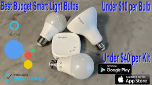 smart home light bulbs best budget smart home lighting for google home mini and amazon echo