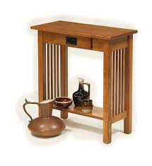 Z Oak Console Table Amish Handcrafted Console Tables
