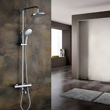 Outdoor Exposed Shower Faucet Shower Strom Plumbing Exposed Freestanding Thermostatic Shower