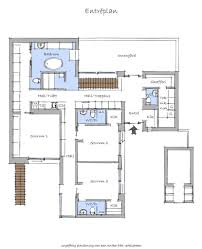 Floor Plan Simple Exciting House Floor Plan Simple And Rigorous Volumes Villa