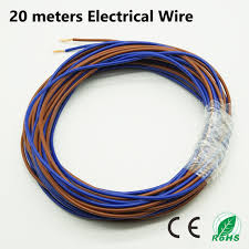 20 meters electrical wire tinned copper 2 pin 20 awg insulated pvc