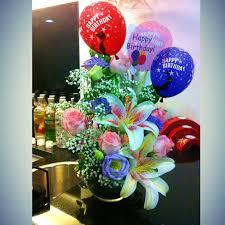 30th birthday flowers and balloons birthday cake and flowers and balloons image inspiration of cake