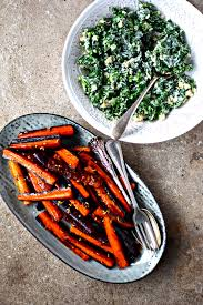 carrot side dish for thanksgiving maple roasted rainbow carrots with fennel seeds food to glow