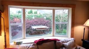 finish cedar trim on inside of how to install a bay window series