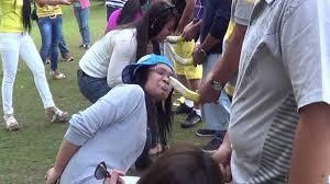eating banana games at creek park youtube